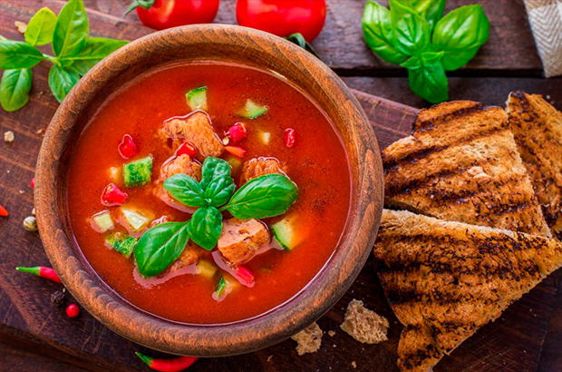 Закуски, салаты и супы